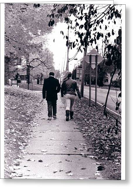 Walking Together Greeting Card by Cecelia Taylor-Hunt