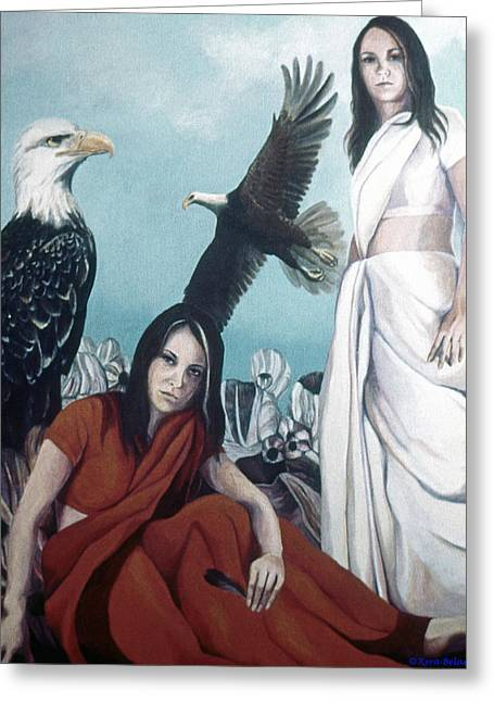 Walks With Eagles Greeting Card