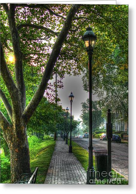Walkway Down Riverside Drive Greeting Card