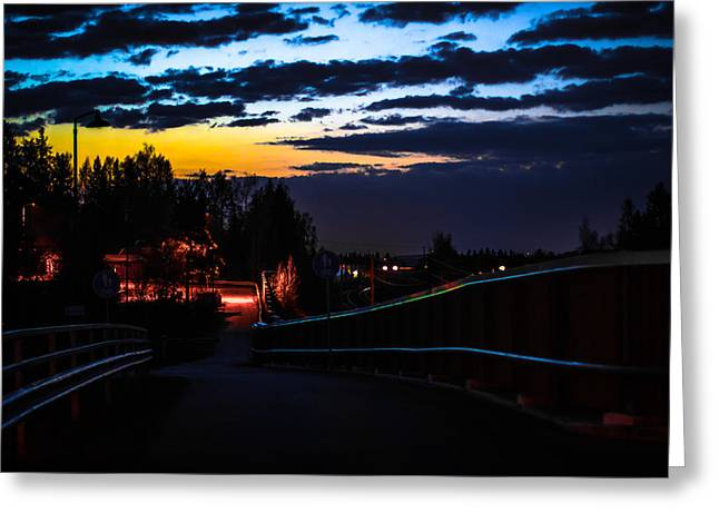 Greeting Card featuring the photograph Walkway by Matti Ollikainen