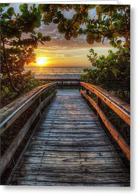 walkway to Paradise Greeting Card