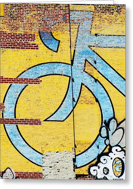 Wall Bike Licensing Art Greeting Card by Anahi DeCanio