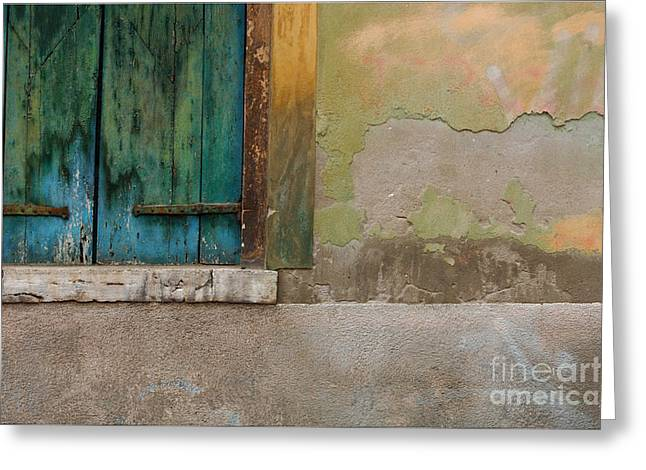 Wall Detail Venice Italy Greeting Card by Bob Christopher