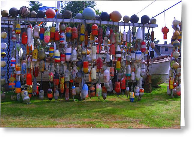 Wall Of Floats Greeting Card by Kym Backland