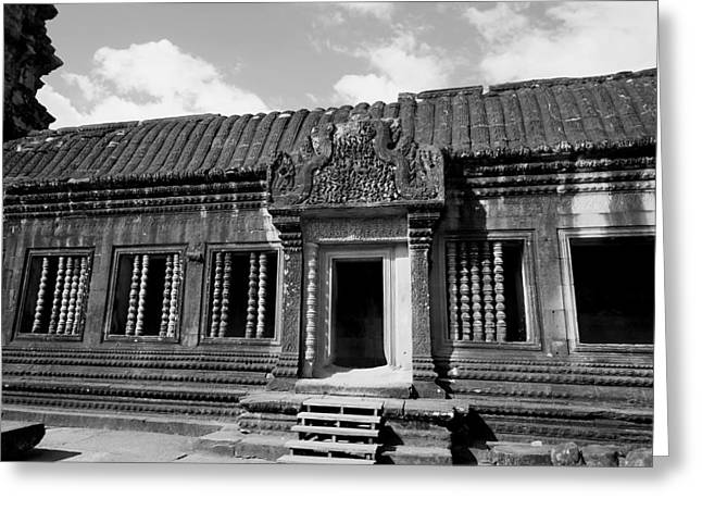 Greeting Card featuring the photograph Wall Of Temple by Arik S Mintorogo