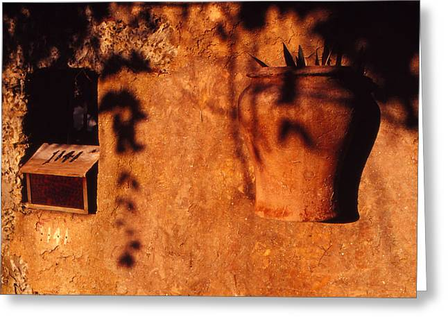 Wall Urn Greeting Card by Bob Whitt