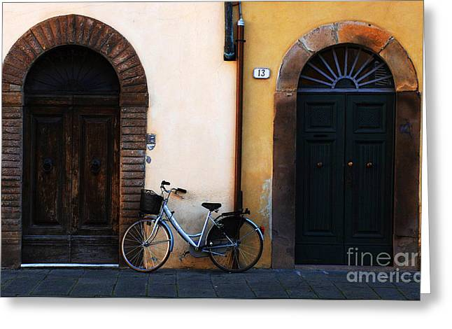 Walled City Of Lucca Greeting Card by Bob Christopher