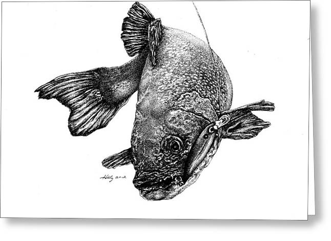 Walleye Greeting Card by Kathleen Kelly Thompson