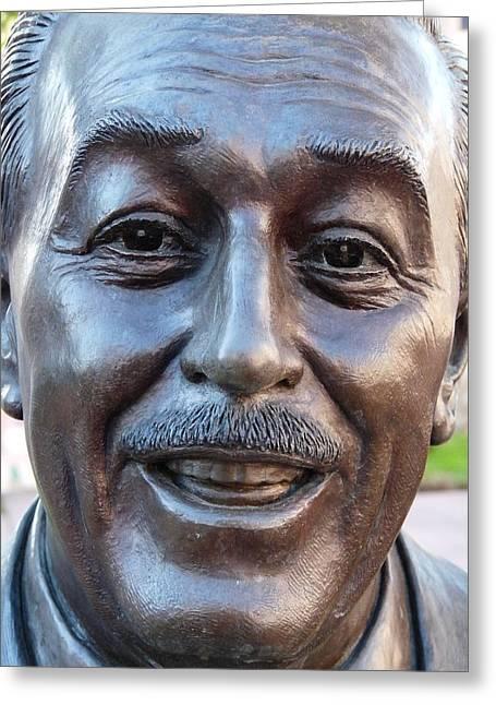 Walt Disney Bust Greeting Card