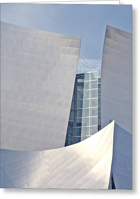 Walt Disney Music Hall Detail Greeting Card by Loud Waterfall Photography Chelsea Sullens