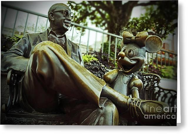 Walt Disney World - Magic Kingdom Greeting Card by AK Photography