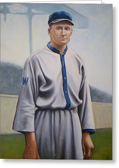 Walter Johnson Greeting Card by Mark Haley
