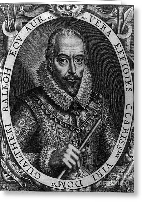 Walter Raleigh, English Courtier Greeting Card by Photo Researchers