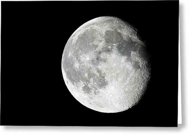 Waning Gibbous Greeting Card by Adam Pender