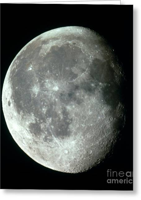 Waning Gibbous Moon Greeting Card by Science Source