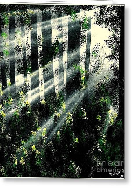 Waning Light Greeting Card
