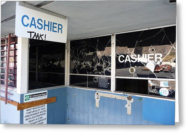 Wanted Cashier  Greeting Card by Paul Washington