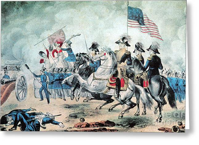 War Of 1812 Battle Of New Orleans 1815 Greeting Card by Photo Researchers