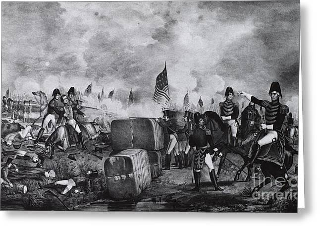 War Of 1812, Battle Of New Orleans Greeting Card by Photo Researchers