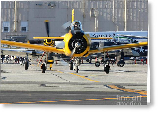 Greeting Card featuring the photograph Warbird Alley by Alex Esguerra