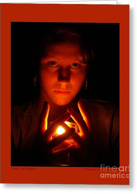 Greeting Card featuring the photograph Warm Candlelight by Patricia Overmoyer