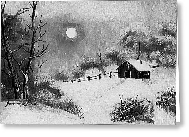 Warm Day  B And W Greeting Card by Barbara Griffin