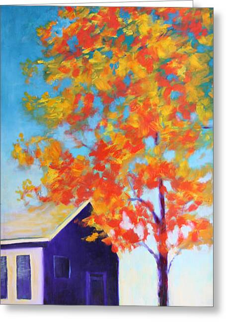 Warm Day In Fall Greeting Card by Karin Eisermann