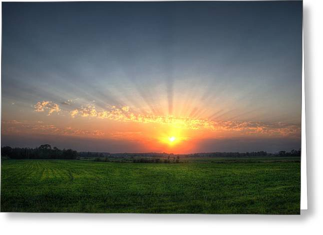 Warm Summer Sunset Greeting Card