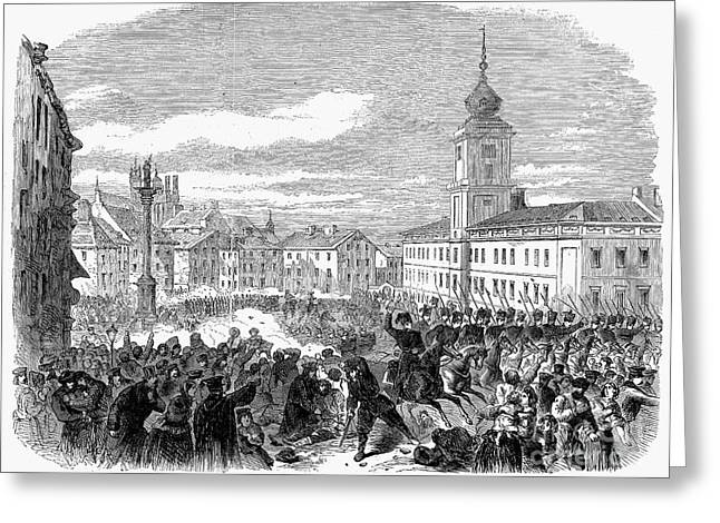 Warsaw: Civil Disturbance Greeting Card by Granger