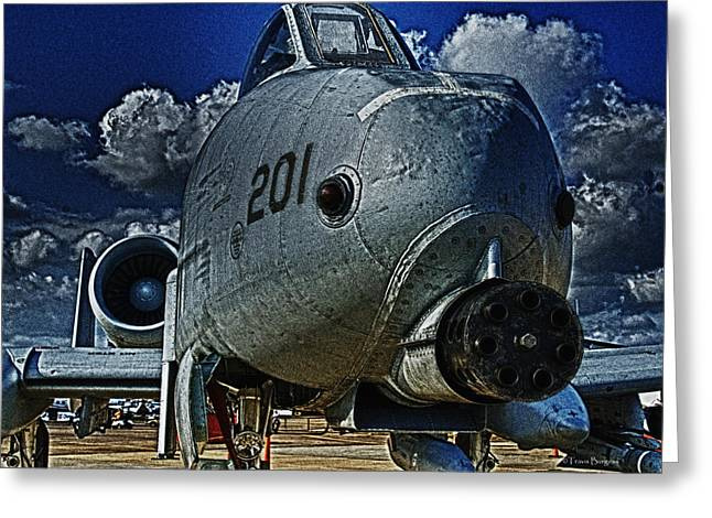 Greeting Card featuring the photograph Warthog by Travis Burgess