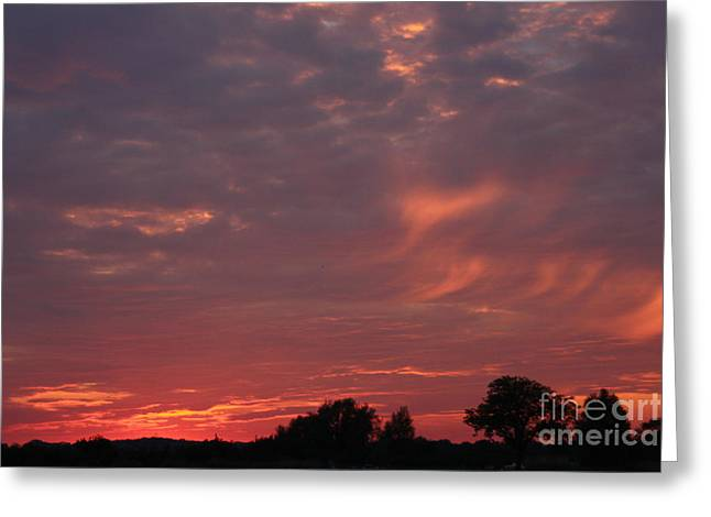 Greeting Card featuring the photograph Warwickshire Sunset by Linsey Williams