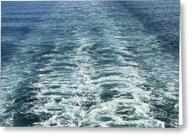 Wash Behind A Cross-channel Ferry Greeting Card by Adrian Bicker