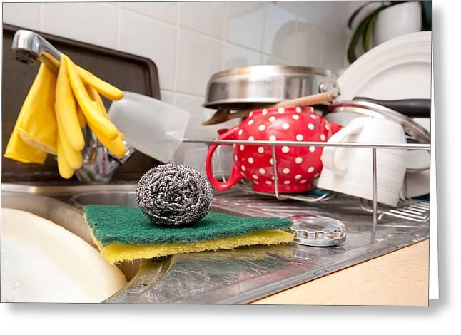 Washing Up Greeting Card