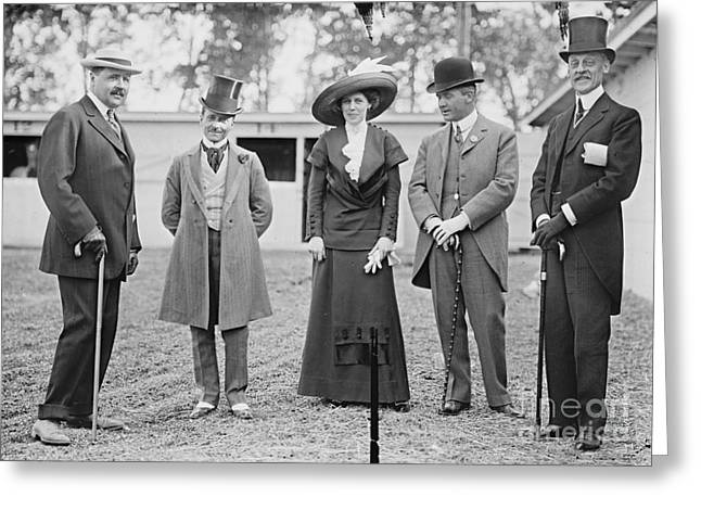 Washington Dc Horse Show Spectators 1911 Greeting Card