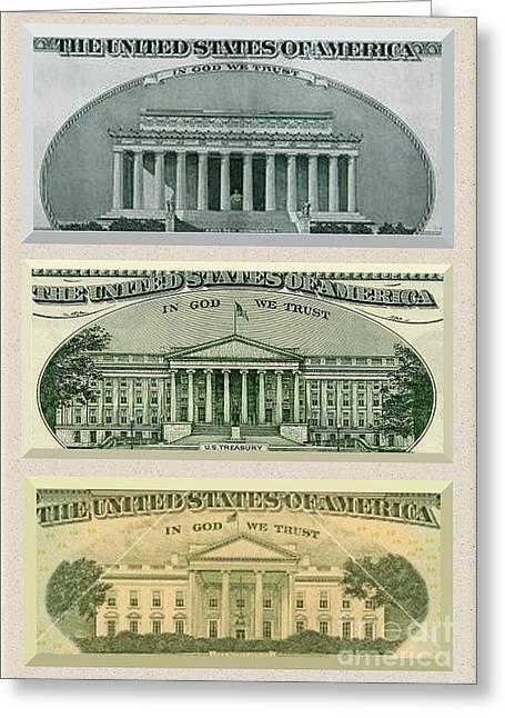 Washington D.c. Landmarks Greeting Card by Charles Robinson
