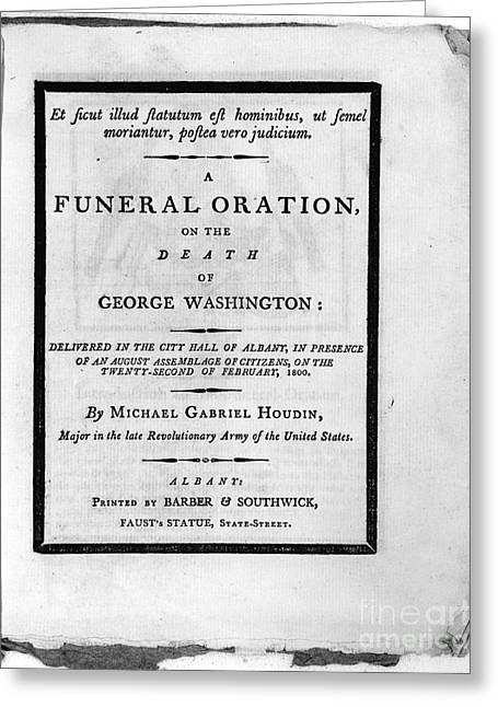 Washington: Funeral, 1800 Greeting Card