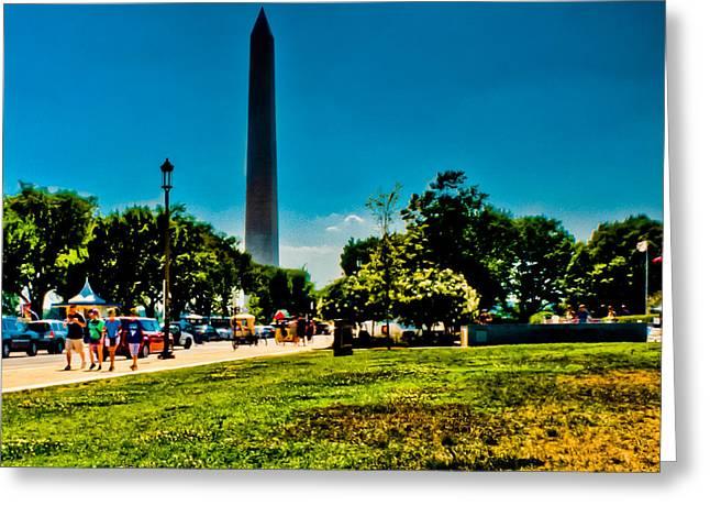 Washington Monument Greeting Card by David Hahn