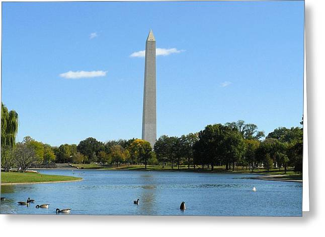 Washington Monument In Summer Greeting Card by