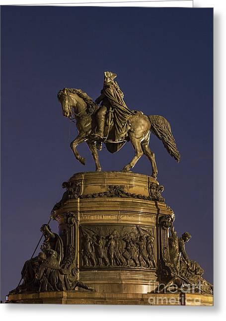 Washington Monument Sculpture Greeting Card by John Greim