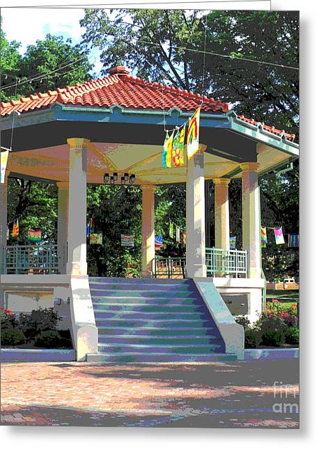 Washington Park Bandstand Greeting Card by Jennifer Kelly