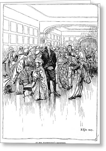 Washington Reception Greeting Card by Granger