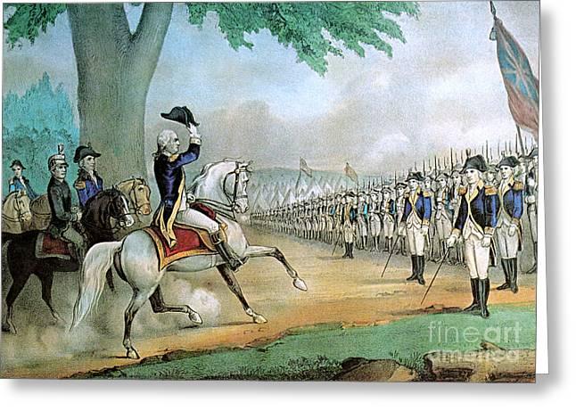 Washington Taking Command Of American Greeting Card