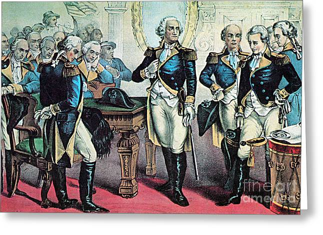Washingtons Farewell To His Officers Greeting Card by Photo Researchers