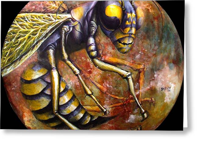 Wasp Greeting Card by Rust Dill