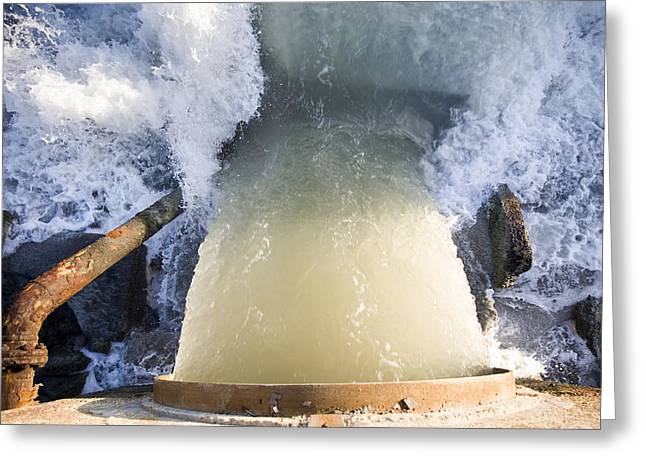 Waste Water Outfalls Greeting Card by Paul Rapson