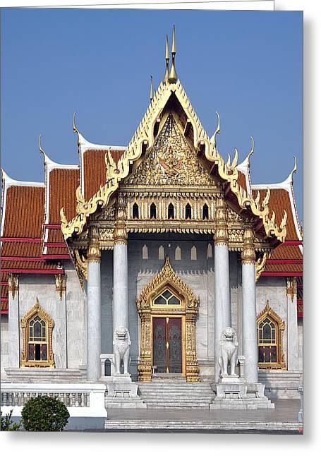 Wat Benchamabophit Ubosot Dthb180 Greeting Card