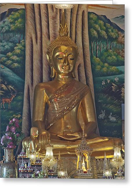 Wat Kaewjamfa Ubosot Principal Buddha Dthb1072 Greeting Card