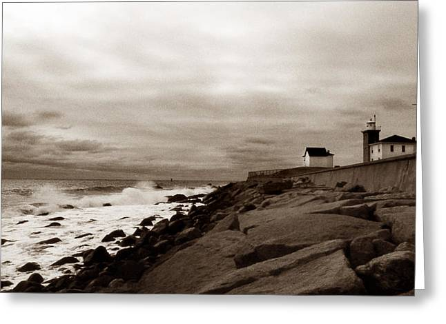 Watch Hill Lighthouse Greeting Card by Skip Willits