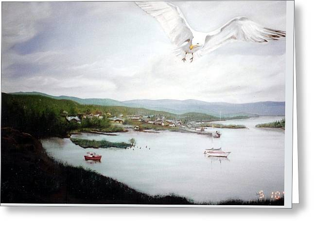 Watching Over  Rossport Greeting Card