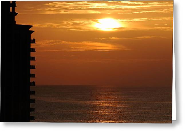 Greeting Card featuring the photograph Watching The Sunset by Coby Cooper